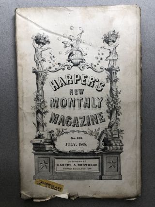 Harper's New Monthly Magazine, No. 218, July 1868. Newman Hall E. G. Squier