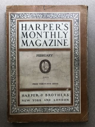 Harper's Monthly Magazine, February 1908. Vilhjalmr Stefansson Howard Pyle frontispiece, Fanny...