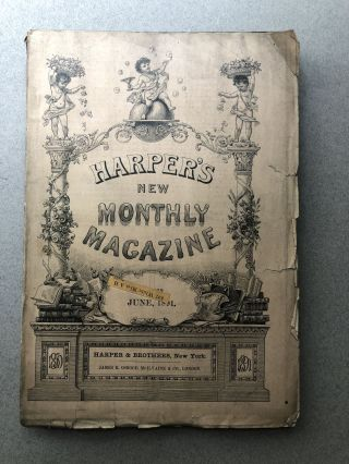 Harper's New Monthly Magazine, No. 493, June 1891. Sarah Orne Jewett Thomas Hardy, George du Maurier