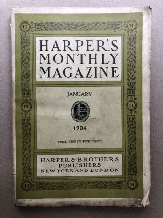 Harper's Monthly Magazine, January 1904. Ernest Rutherford Frederick A. Cook