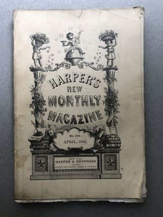Harper's New Monthly Magazine, No. 419, April 1885. James Lane Allen William Wordsworth