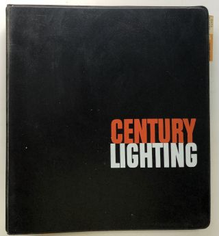 Large binder of 1961-1965 catalog inserts for stage, theatre, television and movie lighting. Inc...