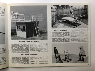 1975 Catalog No. 17 of playground sets, swings, jungle gyms, bouncers, trampolines, etc.