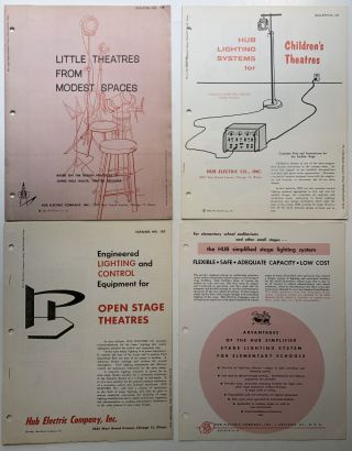 Bulletin Nos. 102, 104 and 107 (1960-62): Little Theatres from Modest Spaces; Lighting Systems...