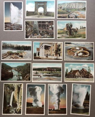 52 postcards of Yellowstone Park from 1912. Haynes Photo