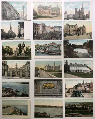 26 ca. 1900s postcards of Quebec Canada