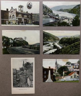 6 Ca. 1900s postcards of Harpers Ferry, West Virginia