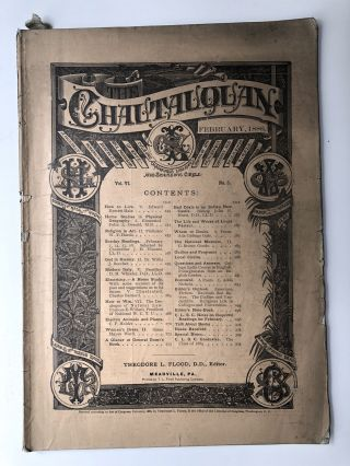 The Chautauquan, February 1886. Theodore L. Flood, Frances E. Willard, ed. Edward Everett Hale