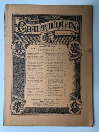The Chautauquan, October 1888. Theodore L. Flood, Charles de Kay, Ernest Ingersoll, ed. Richard...