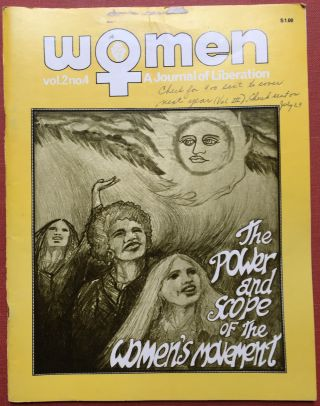 Women, a Journal of Liberation, 1972, Vol. 2 no. 4. Margaret Blanchard, Jo Ann Fuchs, Donna Keck...