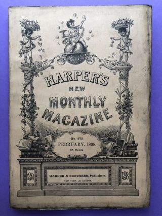 Harper's New Monthly Magazine, August 1897. Frank Stockton Frederic Remington