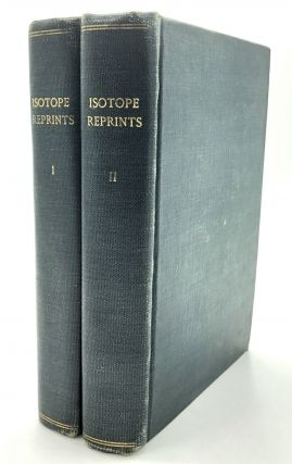 2 volumes of offprints 1935-1946 on isotopes, cholesterol, microbiology, molecular chemistry,...