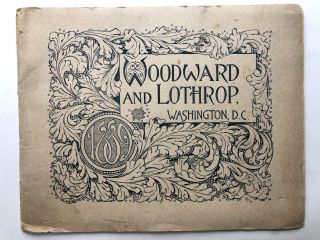 1889 Brochure for Woodward and Lothrop department store, Washington DC