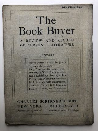 The Book Buyer, a Review and Record of Current Literature, January 1898. Lawrence Hutton James...