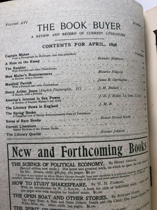 The Book Buyer, A Review and Record of Current Literature, April 1898