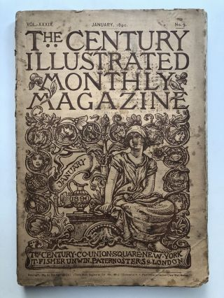 The Century Illustrated Monthly Magazine, January 1890. Frank R. Stockton Henry James