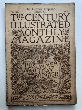 The Century Illustrated Monthly Magazine, August 1891. George Wharton Edwards Frank R. Stockton