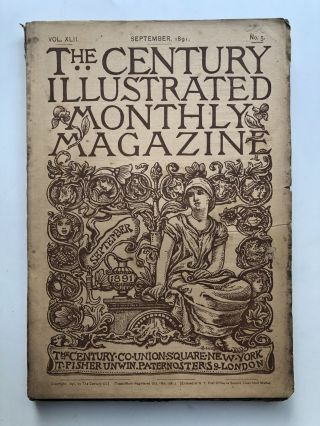 The Century Illustrated Monthly Magazine, September 1891. Frank R. Stockton George Kennan