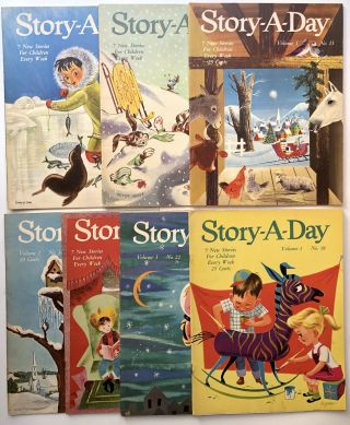 Story-a-Day magazine, Vol. 1 no. 11 (1953), 12, 13, 14, 15, 18, and 22 (1954). Jean Merrill,...