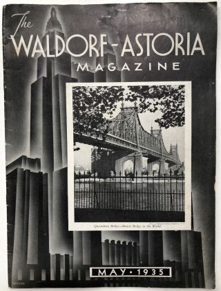 The Waldorf-Astoria Magazine, May 1935. Letitia Chaffee, ed