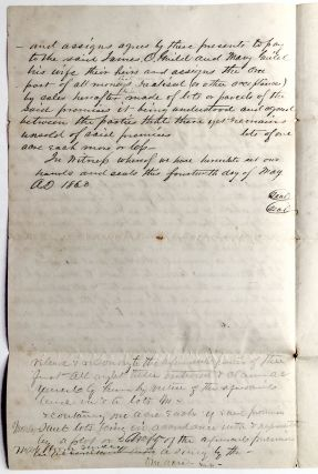 Rare 1859-60 Pennsylvania oil country indenture for land near Drake's Well