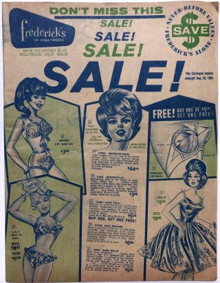 Frederick's of Hollywood sale catalogue, Summer 1965