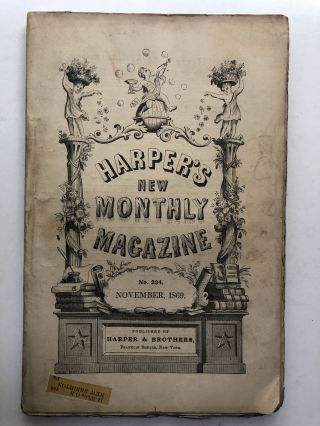 Harper's New Monthly Magazine, November 1869. Justin McCarthy