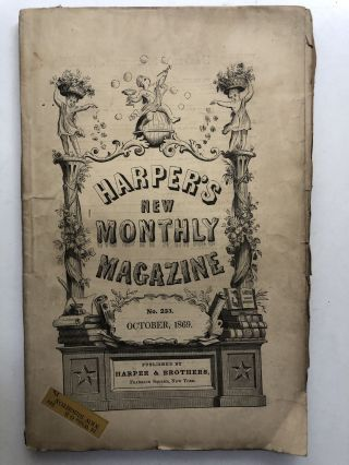 Harper's New Monthly Magazine, October 1869. Justin McCarthy