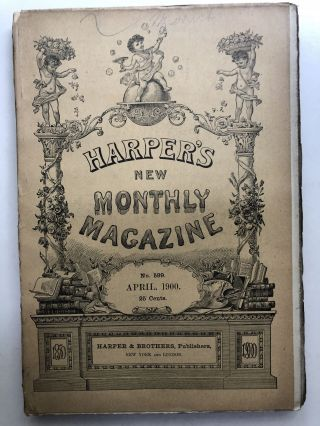 Harper's New Monthly Magazine, April 1900. Frederick Remington Stephen Crane