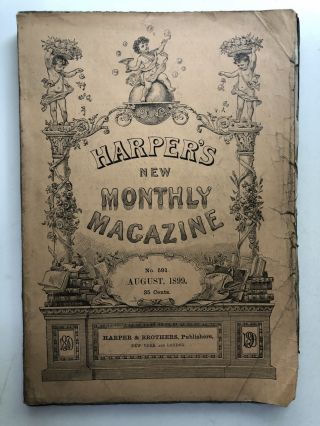 Harper's New Monthly Magazine, August 1899. Mary E. Wilkins Stephen Crane