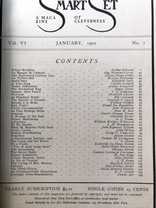 The Smart Set, a Magazine of Cleverness, January 1902