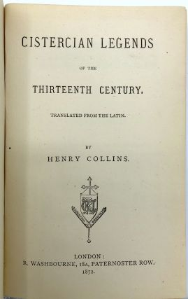 Cistercian Legends of the Thirteenth Century, translated from the Latin