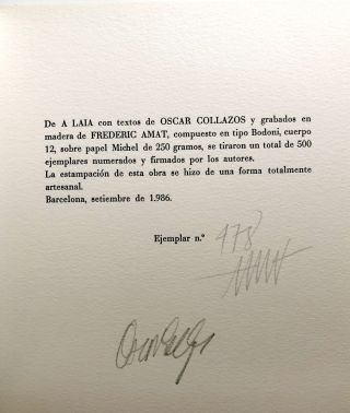 A Laia - limited signed, inscribed