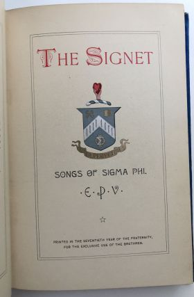 The Signet, Songs of Sigma Phi