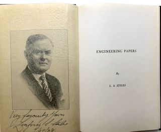 Engineering Papers - inscribed. L. S. Stiles, Linford