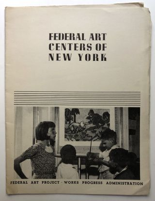 Federal Art Centers of New York, Community art centers of New York under the W.P.A. Art Project....