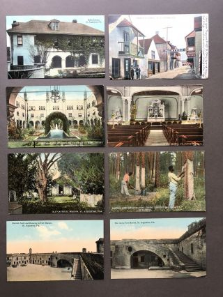 Ca. 1910-1912 64 postcards of FLORIDA - St. Augustine, Jacksonville, Plants & Trees, etc