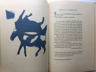 Diary of a Horse - limited edition with four drawings by Chagall