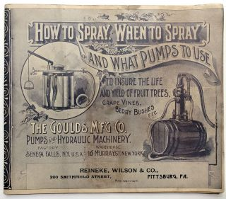 How To Spray When to Spray, What Pumps to Use: 1894 Special Catalogue of Spray Pumps and...