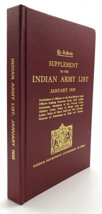 Supplement to the Indian Army List, January 1939