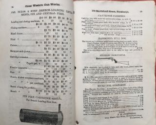 Retail Price List and Catalogue of Guns, Rifles, Revolvers, Ammunition, and Sporting Goods, manufactured and for sale, Wholesale and Retail, by J. H. Johnston at the Great Western Gun Works, 179 Smithfield Street, Pittsburgh PA (1872)