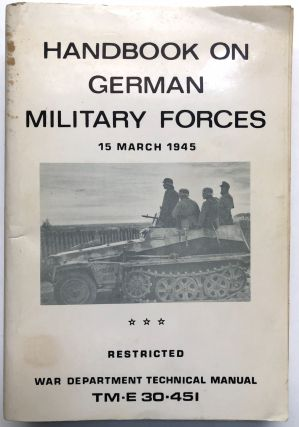 Handbook on German Military Forces, 15 March 1945