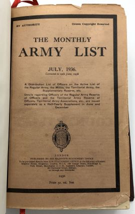 The Monthly Army List, July 1936