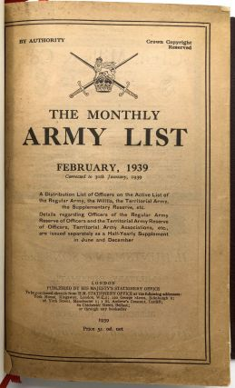 The Monthly Army List, February 1939