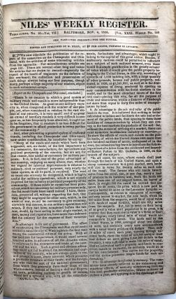 Niles' Weekly Register, Vol. XXXI, September, 1826 - March, 1827