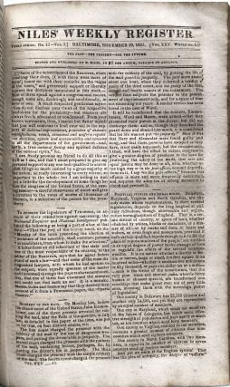 Niles' Weekly Register, Vol. XXV, September, 1823 - March, 1824