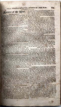 Niles' Weekly Register, Vol. VI, March - September, 1814