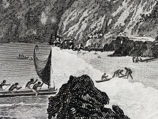 (Hawaii) A View of Karakakooa Bay from the Island Owyhee (1789; framed)
