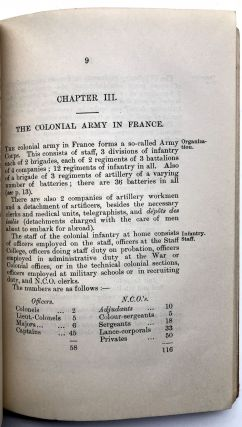 Handbook of the French Colonial Army