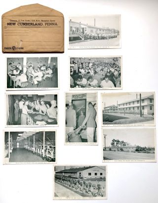 14 World War II postcards from Army Reception Center, New Cumberland, PA